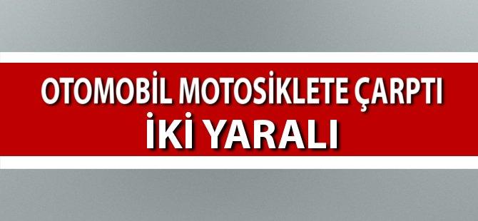 Samsun'da Otomobil Motosiklete Çarptı: 2 Yaralı