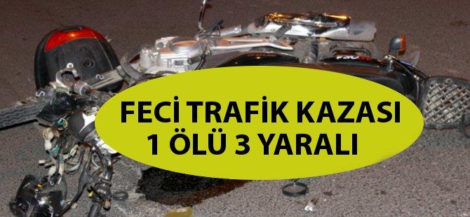 Ordu'da Trafik Kazası: 1 Ölü 3 Yaralı