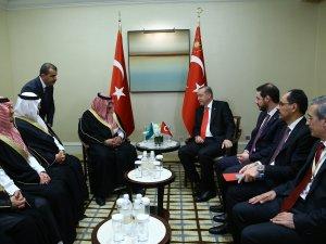 Cumhurbaşkanı Erdoğan, Suudi Veliaht Prens İle Görüştü