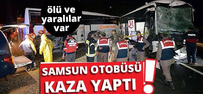 Samsun-Bursa Seferini Yapan Otobüs Kaza Yaptı:  2 Ölü 66 Yaralı