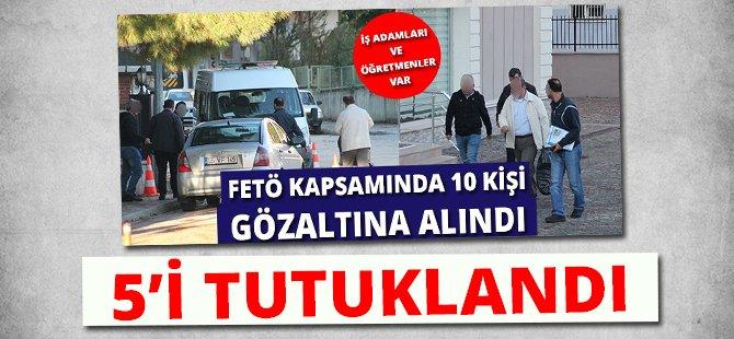 Samsun'da FETÖ Kapsamında Gözaltına Alınan 10 Kişiden 5'i Tutuklandı