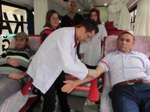 Samsun'un Kavak ilçesinde Kan Bağışı Kampanyası