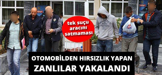 Samsun'da Otomobilden Hırsızlık Yapan Zanlılar Yakalandı