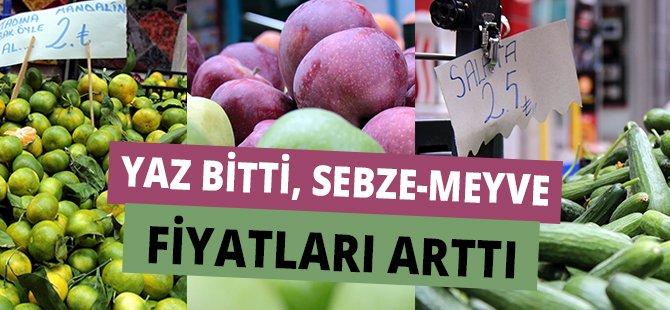 Yaz Bitti, Samsun'da  Sebze-Meyve Fiyatları Arttı