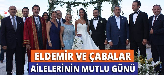 Samsun'da Eldemir ve Çabalar Ailelerinin Çocukları Dünya Evine Girdi