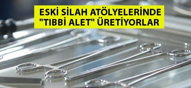 Samsun'da Silah Üretilen Atölyelerde Sağlık Dağıtan Tıbbi Alet Üretiliyor