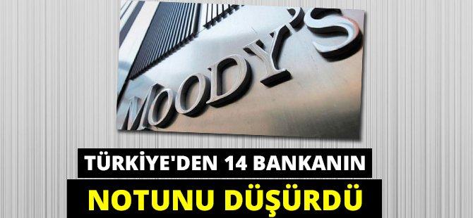 Moody's Türkiye'den 14 Bankanın Notunu Düşürdü