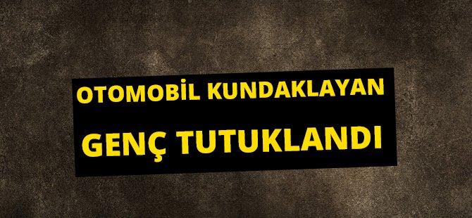 Samsun'da Otomobil Kundaklayan Genç Tutuklandı