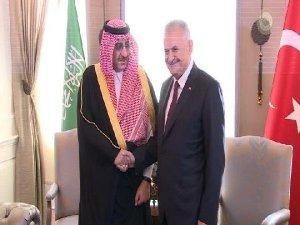 Başbakan Yıldırım Suudi Arabistan Veliaht Prensiyle Görüştü