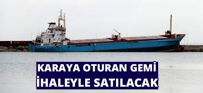 Samsun'da Karaya Oturan Gemi İhaleyle Satılacak