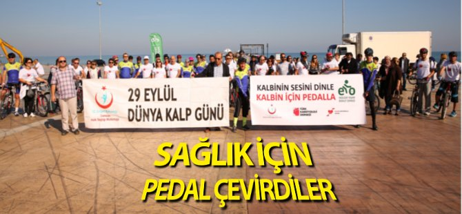 'Dünya Kalp Günü' İçin Pedal Çevirdiler