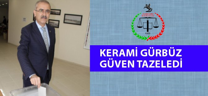 Samsun Barosu Başkanı Kerami Gürbüz, Güven Tazeledi.
