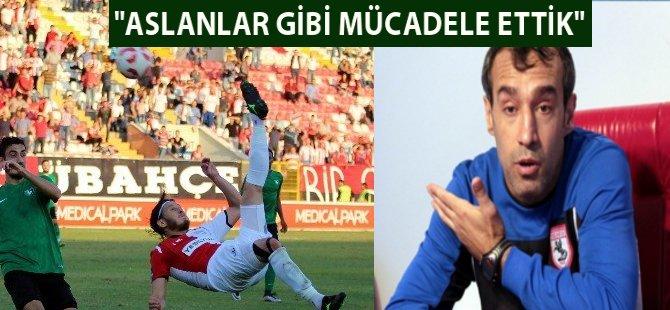 """Samsunspor Teknik Direktörü Kenan Yelek: """"Aslanlar Gibi Mücadele Ettik"""""""