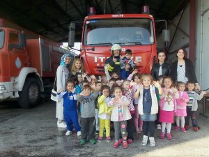 Çarşamba'da Minikler İtfaiyeyi Ziyaret Etti