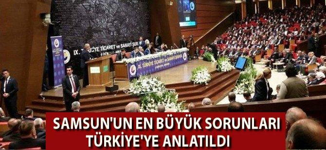 Göksel Başar TOBB 9. Türkiye Ticaret ve Sanayi Şurasında Samsun'un Sorunlarını Anlattı