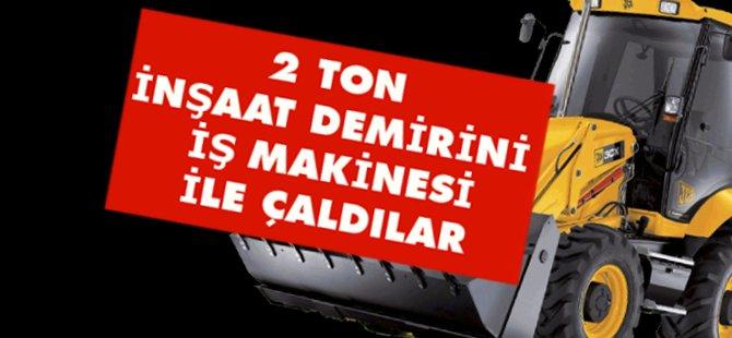 Samsun'da İş Makinesiyle 2 Ton Demir Çaldılar Serbestler