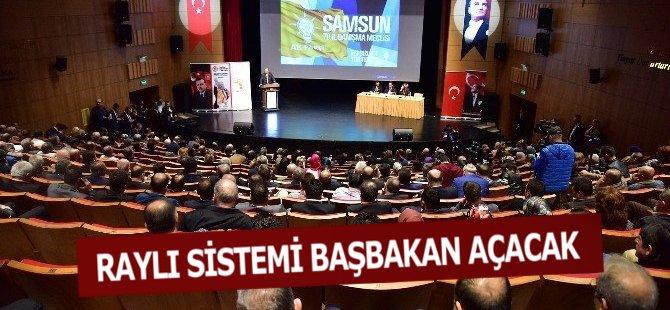 Samsun'da Raylı Sistemin İkinci Etabını Başbakan Yıldırım Açacak