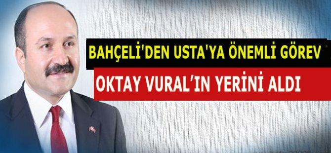 MHP Samsun Milletvekili Erhan Usta Partisinin Grup Başkan Vekili Oldu