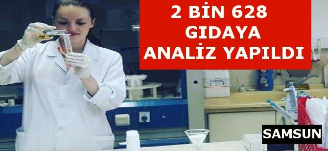 Samsun'da 2 Bin 628 Gıdaya Analiz Yapıldı