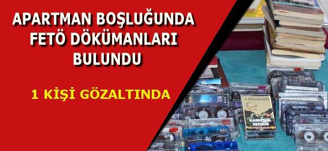Samsun'da Apartmanın Ortak Kullanım Alanında FETÖ Dokümanları Bulundu