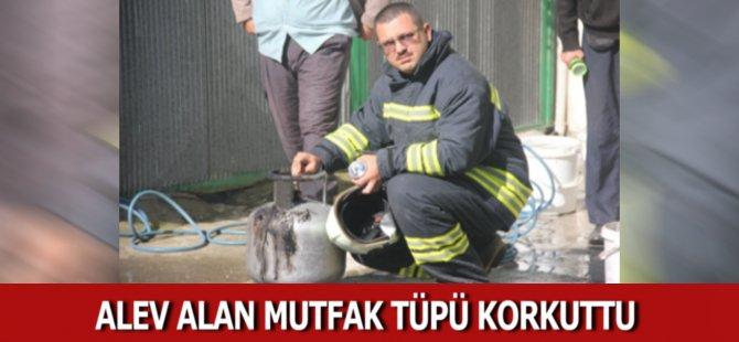 Samsun'da Alev Alan Mutfak Tüpü Korkuttu