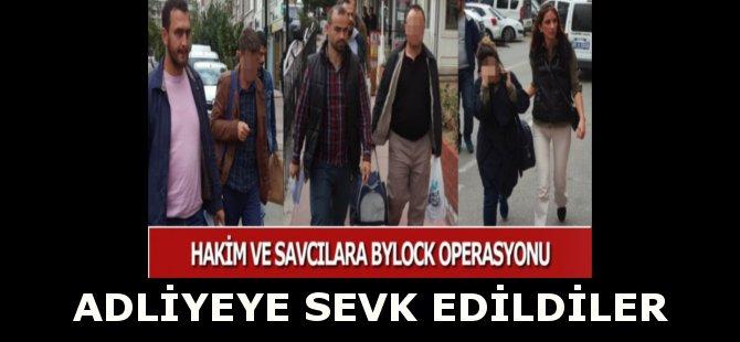 """Samsun'da, """"ByLock"""" Kullandıkları Gerekçesi İle Gözaltına Alınan Hakim ve Savcılar Adliyeye Sevk Edildi"""