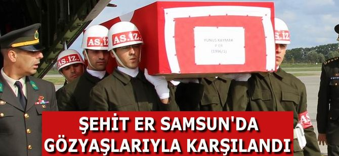 Ordulu Şehit Er Samsun-Çarşamba Havaalimanı'nda Gözyaşları İle Karşılandı