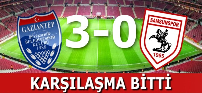 Gaziantepspor Samsunspor Maçı Bitti