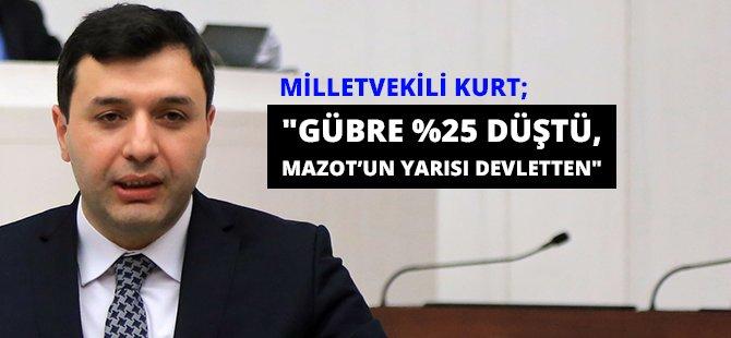 "AK Parti Samsun Milletvekili Kurt; ""Gübre %25 Düştü, Mazot'un Yarısı Devletten"""