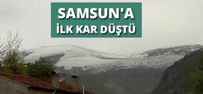 Samsun Akdağ'a Kar Yağdı