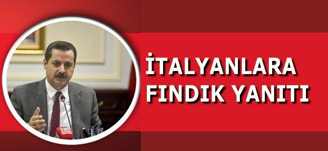 Tarım Bakanı Faruk Çelik'ten İtalyanlara Fındık Yanıtı