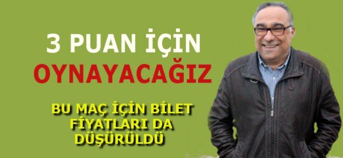 """Samsunspor Genel Sekreteri İbrahim Çevik, """"3 Puan İçin Oynayacağız"""""""