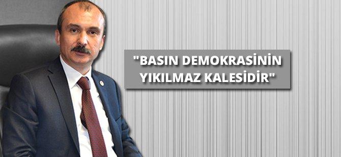 """AK Parti Samsun Milletvekili Kırcalı: """"Basın Demokrasinin Yıkılmaz Kalesidir"""""""