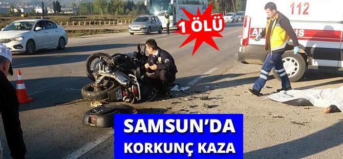 Samsun'da Motosiklet İle Kamyonet Çarpıştı: 1 Ölü, 1 Yaralı