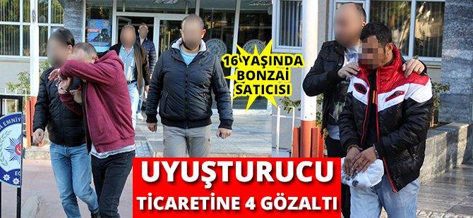 Samsun'da Uyuşturucu Ticaretine 4 Gözaltı