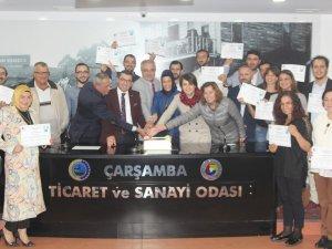 Samsun'da Girişimcilik Kursunu Tamamlayan Kursiyerlere Sertifikaları Verildi