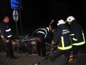 Bursa'da Düğün Dönüşü Kaza: 2 Ölü, 4 Yaralı