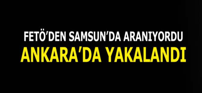 Samsun'da FETÖ'den Aranan Ziraat Mühendisi Ankara'da Yakalandı