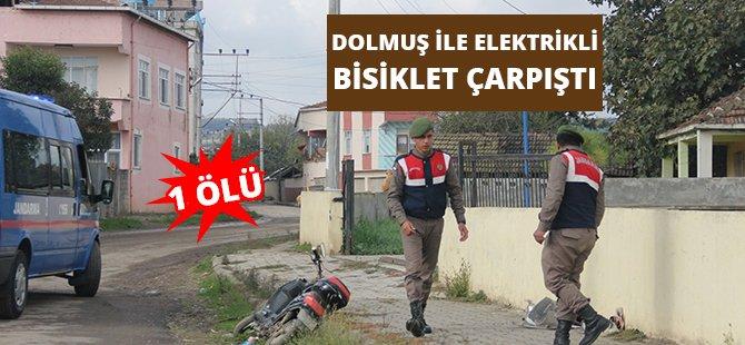 Samsun'da Dolmuş İle Elektrikli Bisiklet Çarpıştı: 1 Ölü