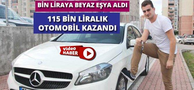 Samsun'da Bin Liraya Beyaz Eşya Aldı 115 Bin Liralık Otomobil Kazandı