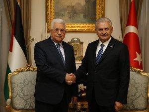 Başbakan Yıldırım Filistin Devlet Başkanı Abbas'la Görüştü