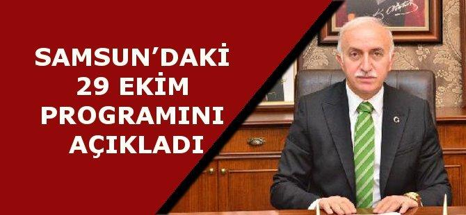 Samsun'daki Cumhuriyet Bayramı 93'ncü Yıl Dönümü Kutlama Programı Açıklandı