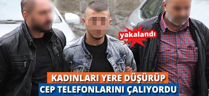 Samsun'da Kadınları Yere Düşürüp Cep Telefonlarını Kapkaç Yapan Genç Yakalandı