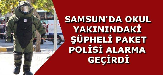 Samsun'da Okulun Yanında Şüpheli Paket Alarmı