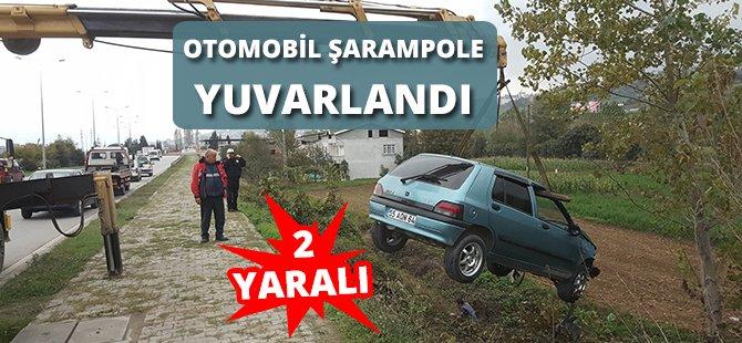 Samsun'da Otomobil Şarampole Yuvarlandı: 2 Yaralı