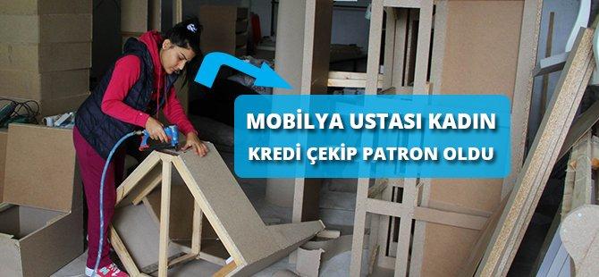 Samsun'da Mobilya Ustası Kadın Kredi Çekip Patron Oldu