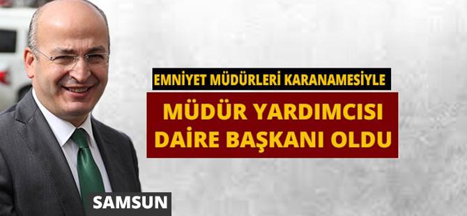 Samsun Emniyet Müdür Yardımcısı Mehmet Yavuz Trafik Daire Başkanı Oldu