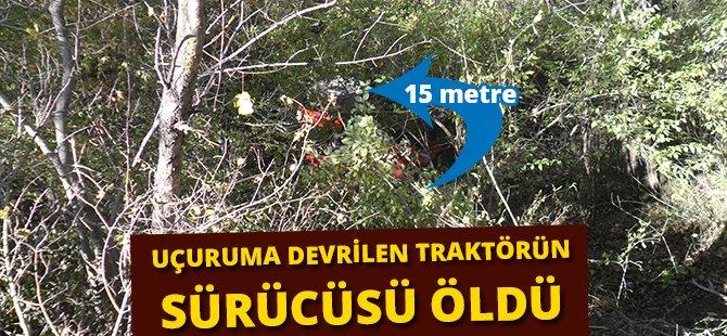 Samsun'da Uçuruma Devrilen Traktörün Sürücüsü Öldü