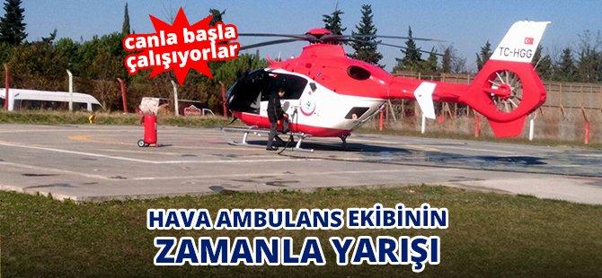 Samsun'da Hava Ambulans Ekipleri Zamanla Yarışıyor