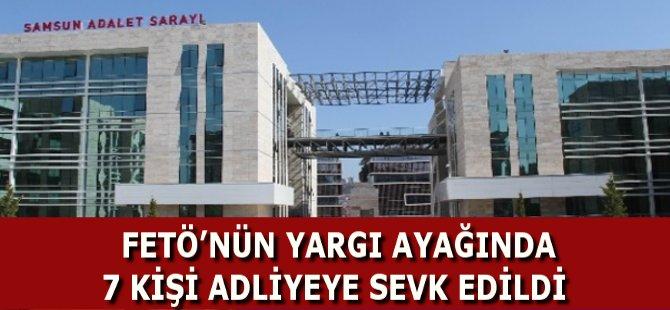 Samsun'da FETÖ'den Gözaltına Alınan Adliye Personeli Adliye Sevk Edildi